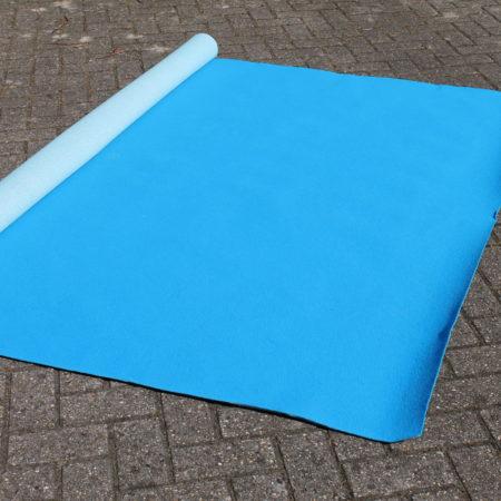 Podiumvloerbedekking Helder Blauw